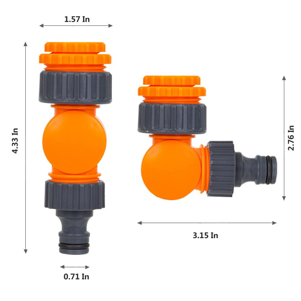 Quick Connector Rotatable Water Tap Splitter Irrigation Agriculture Quick Water Connector Water Control Valve 1/2 inch 3/4 inch 5