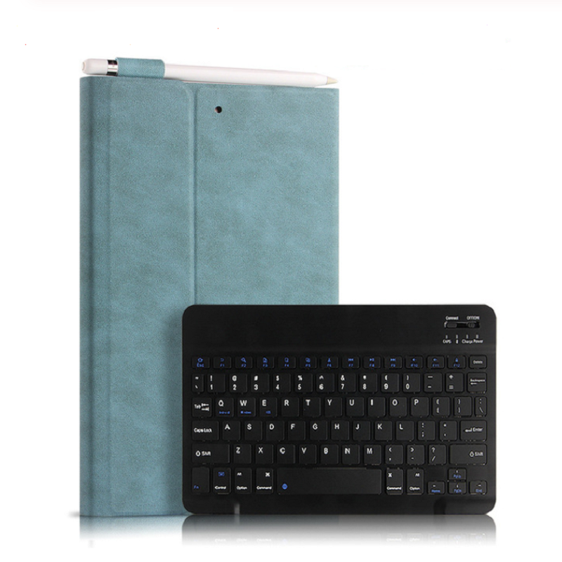 "Case For IPad 9.7 2017 2018 Ipad 5 6 Air 1 Air 2 9.7"" Tablet Protective Wireless Bluetooth keyboard PU Stand covers Funda+pen"
