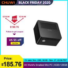 CHUWI LarkBox 4K Più Piccolo del Mondo Mini PC Intel Celeron Processore J4115 windows 10 sistema Quad core 6GB RAM 128G EMMC