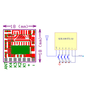 Image 5 - GERMA 433mhz 무선 와이드 전압 코딩 송신기 + 디코딩 수신기 433 Mhz 원격 제어용 4 채널 출력 모듈