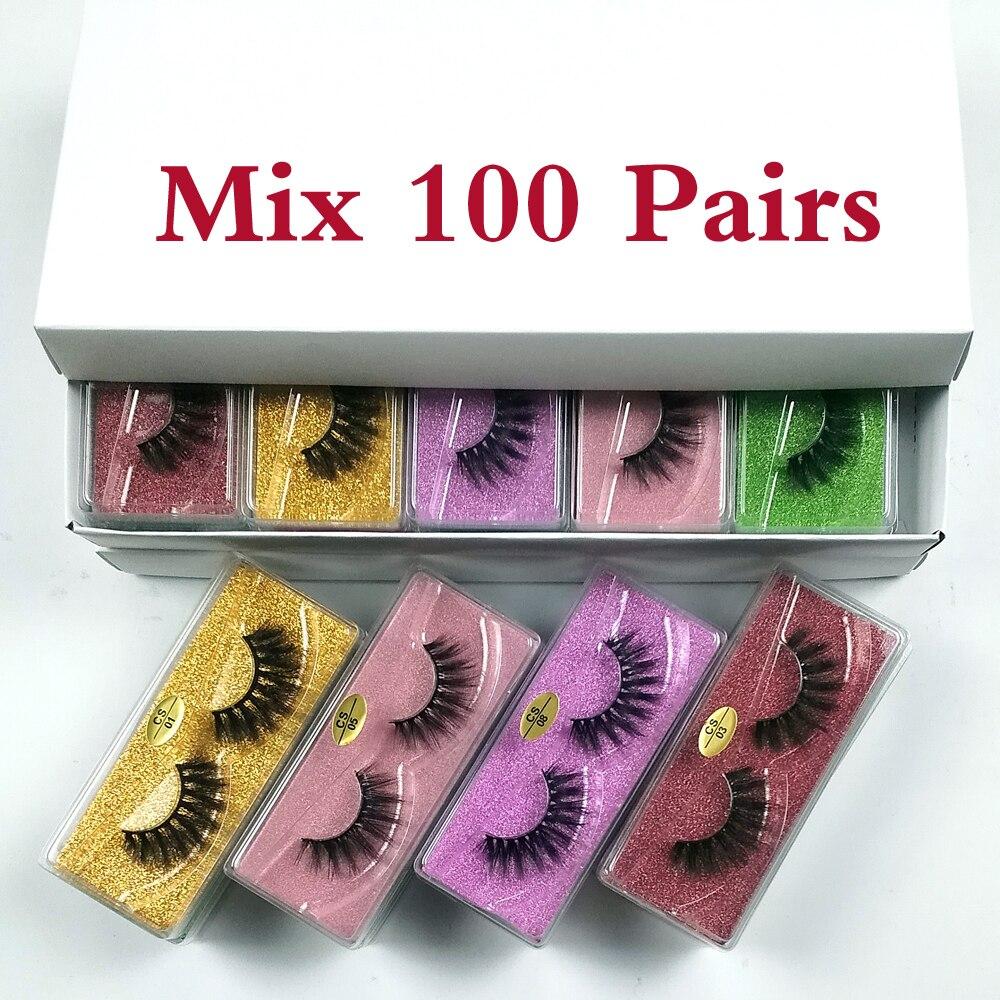Wholesale Eyelashes 30/40/50/100pcs 3d Mink Lashes Natural Mink Eyelashes Wholesale False Eyelashes Makeup False Lashes In Bulk