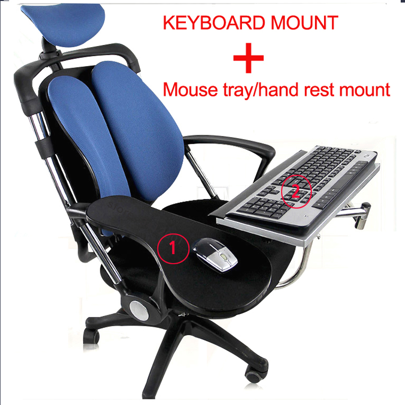 DL OK010 Multifunctoinal Full Motion Chair Clamping Keyboard Support Laptop Holder Mouse Pad For Compfortable Office And Game