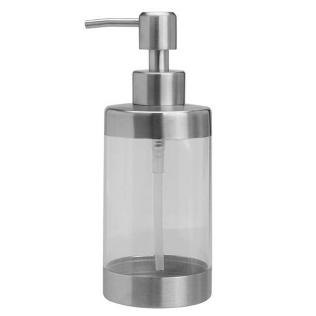 350ml Stainless Steel Bottle Transparent Soap Dispenser Shampoo Lotion Container Pump Bathroom Fixture Hardware