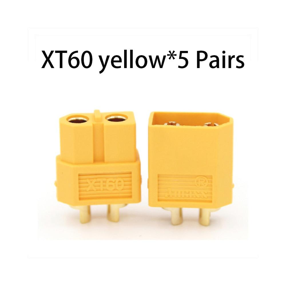 Коннектор AMASS 10 шт. XT60 XT-60 XT 60 XT90 XT60H XT60L XT60U XT60PW XT30U XT90S T Дин EC3 EC5 AS150 XT150 XT30PW XT90PW для Lipo Батарея - Цвет: XT60 yellow