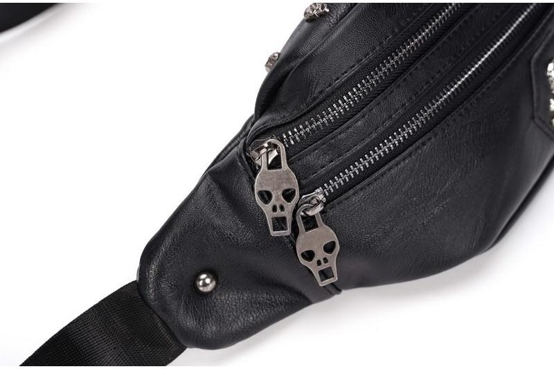 crânio rebite fanny packs para mulheres moda