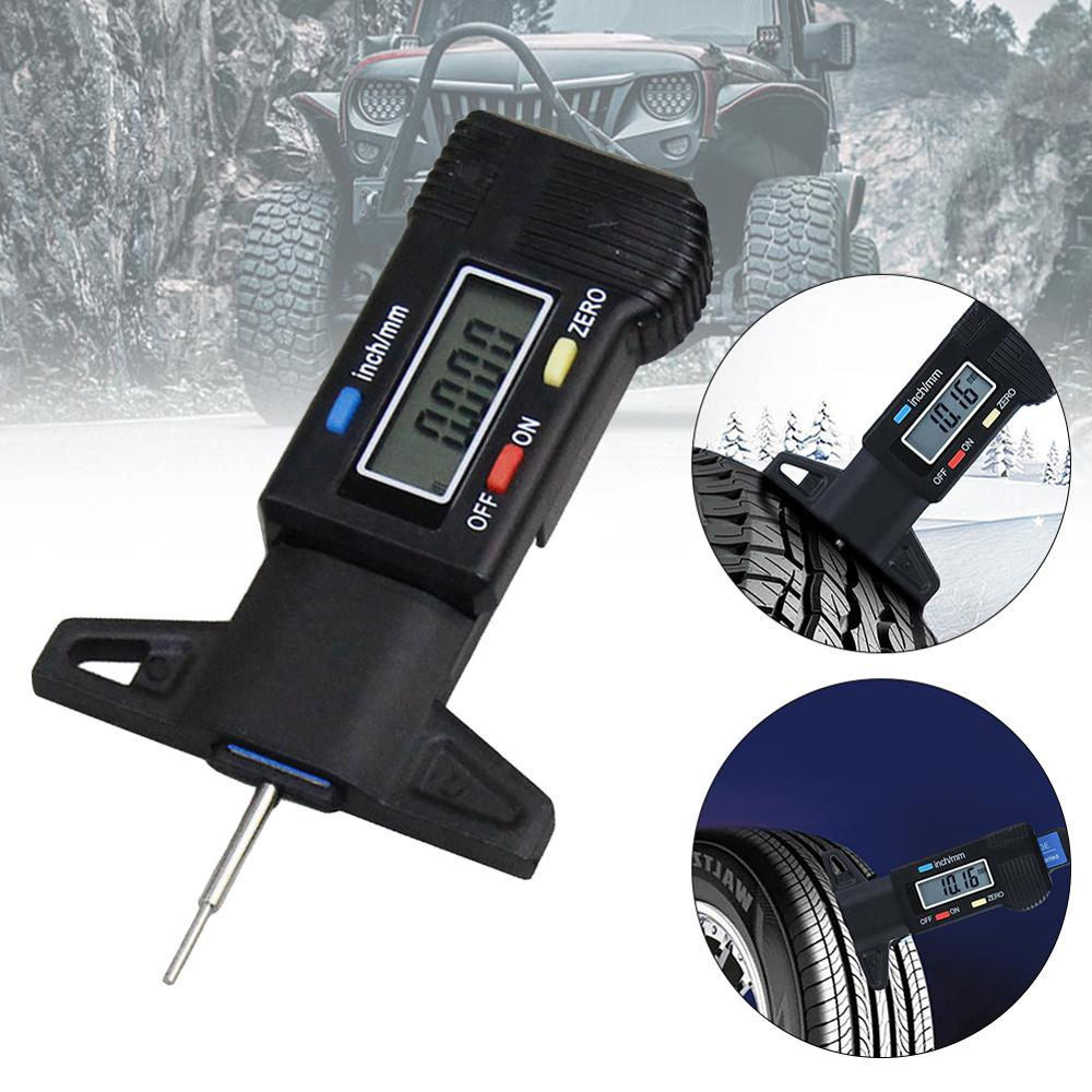 High-Precision Digital Tread Depth Gauge Auto Tire Pressure Wear Detection Car Safety Measurer Tools Electronic Vernier Caliper