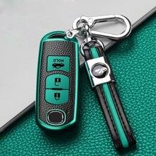 Роскошный чехол портмоне из ТПУ с зерна ключи крышка для защиты