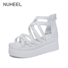 NUHEEL women sandals new fashion simple solid color sandals women high heel breathable casual women shoes