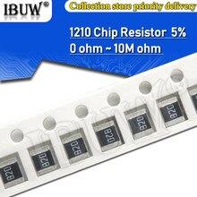100pcs 1210 5% 1/2W SMD Chip Resistor resistores 0R - 10M 0 10 100 220 470 ohm 0R 10R 100R 220R 470R 10 1K 2.2K 4.7K 100K K 1M 10M