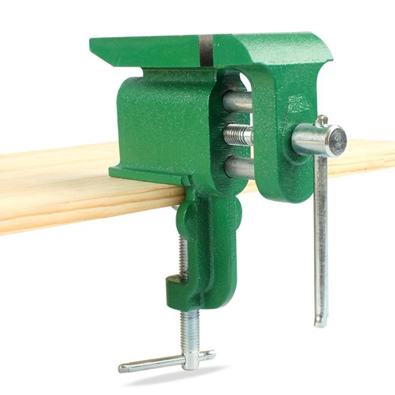 Mini Table Screw Vise Bench Clamp Universal Bench Vise Multipurpose Practical Flat Tapping Tongs For DIY Craft Mold Repair