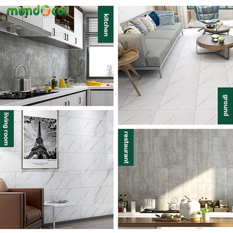 Self Adhesive PVC Ceramic Tile Stickers Waterproof Wallpaper Art Diagonal Floor Renovation DIY Kitchen Contact Paper Home Decor