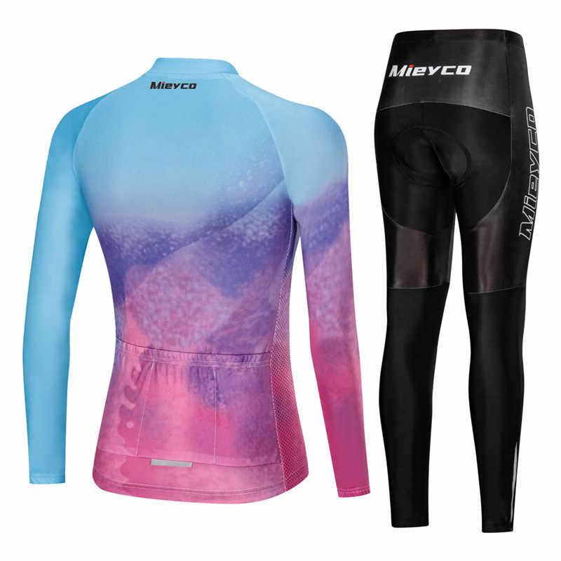 Damska koszulka kolarska z długim rękawem odzież rowerowa damska koszulka MTB Ropa Ciclismo Maillot koszule jeździeckie Quick Dry Bib krótka podkładka żelowa