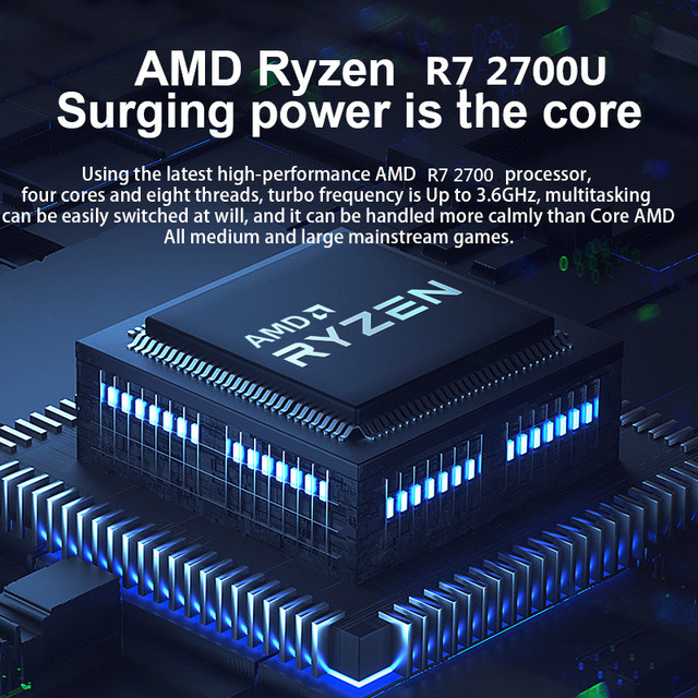 Max RAM 36GB Rom 2TB SSD Ultrabook Metal Computer with 2.4G/5.0G Bluetooth Ryzen R7 2700U windows10 Metal portable gaming laptop 5