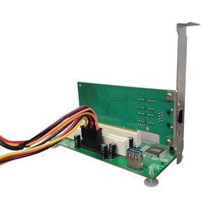 Image 4 - PCI express への PCI アダプタカードの Pcie デュアル Pci スロット拡張カードの Usb 3.0 に追加カードコンバータ TXB024