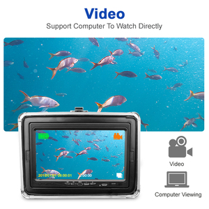 Image 4 - Fish Finder 1280*720 Resolution Underwater Fishing Camera 12pcs White LEDs+12pcs Infrared Lamp For Ice Fishing 16GB Recod