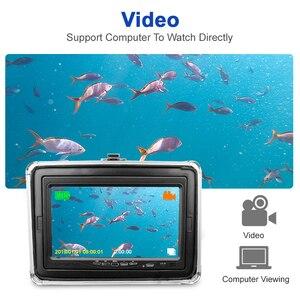 Image 2 - Nagrywanie lokalizator ryb pod wodą kamera wędkarska DH 1280*720 ekran 2 diody na podczerwień jasna biała kamera led do łowienia ryb