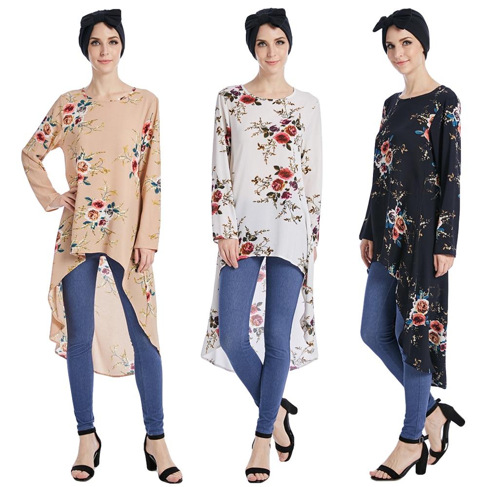 Image 5 - Muslim Blouses Adult Women Shirts Dress Long Blouse Islamic Tops  New Abaya Vintage Dress Shirt Loose Stylemuslim blouselong islamic  blouseislamic blouse