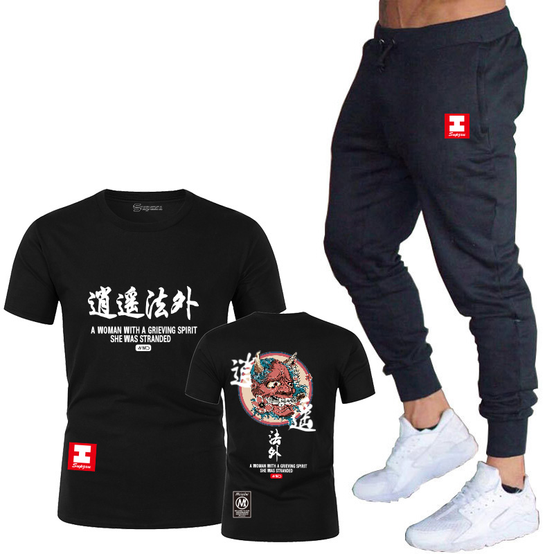 2020 European and American New Men's Summer Loose Fit Short Sleeve Printed T-shirt for Couple Hip Hop Couple