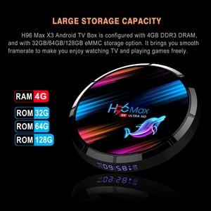 Image 4 - 5 قطعة/الوحدة H96 ماكس x3 تي في بوكس أندرويد HD 8K H96MAX S905X3 TV Box أندرويد 9.0 مجموعة صندوق علوي PX X96 AIR A95X F3 AIR HK1 صندوق