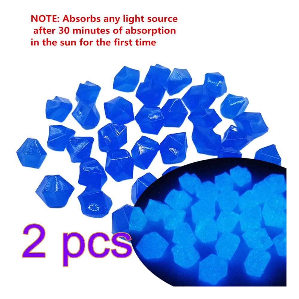 600Pcs 2 Pack 14mm Artificial Luminous Night Stones Pebble Glow In The Dark Pebbles Glow Gravels For Garden Yard Walkway Decor