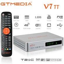 2021 NEUE GTMEDIA V7 TT DVB-T/T2 + DVB-C Unterstützung H.265 HEVC 10bit Terrestrischen receiver combo tv tuner mit antenne usb YouTude app