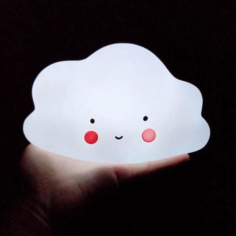Cloud Shape button battery Night Light Children Baby Nursery Lamp Bedroom Sleep For Girl Toy Christmas Gift