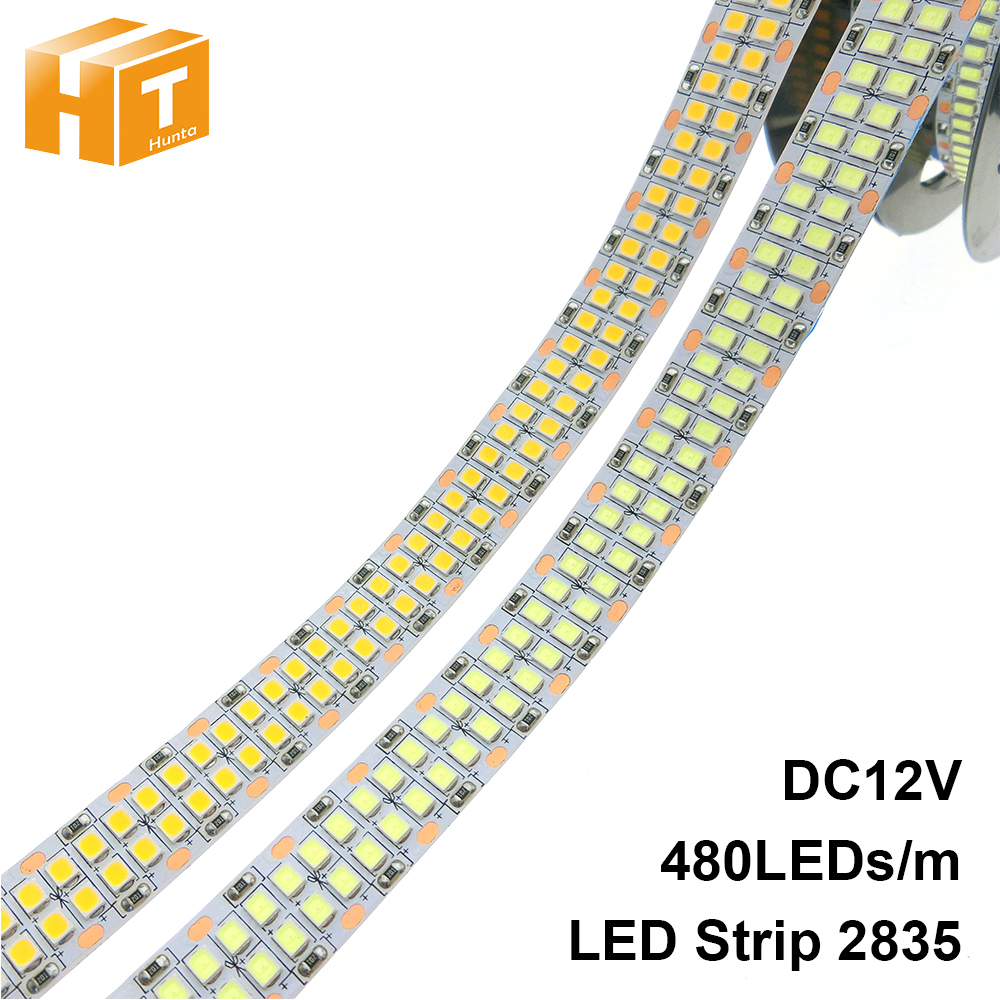 LED Strip 2835 480LEDs m 240LEDs m DC12V High Brightness 2835 Flexible LED Light Warm White   White 5m lot