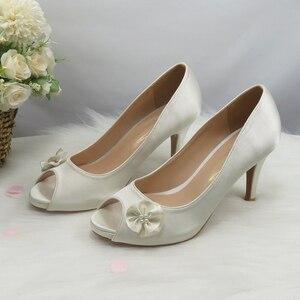 Женские туфли-лодочки с открытым носком, на высоком каблуке и платформе