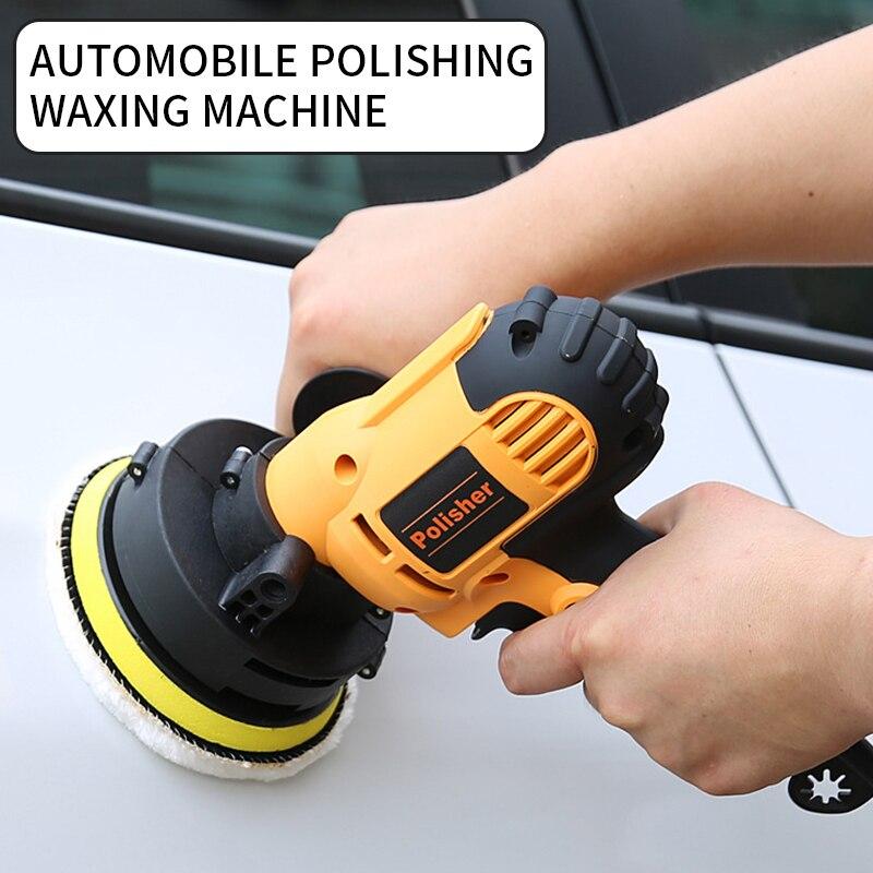 220V/110V voiture polisseuse Machine électrique Auto polissage Stepless vitesse épilation outils de meulage avec des tampons éponge | AliExpress