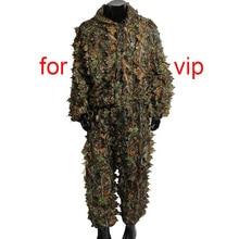 5 шт./компл. охотничий костюм топы и Штаны 3D в виде кленового листа бионический камуфляж снайпер камуфляжная охотничья одежда