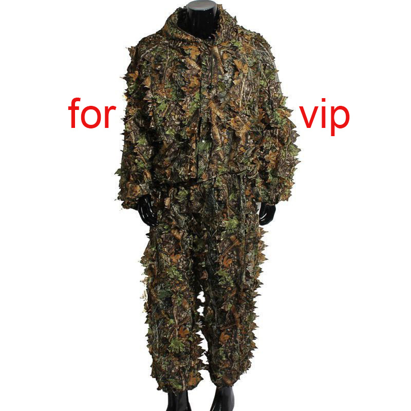5 pcs/set Hunting suit tops and pants 3D maple leaf bionic camouflage sniper camouflage hunting clothes