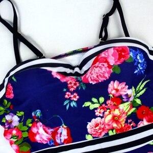 Image 5 - בגדי ים נשים ביקיני 2020 Mujer ללא משענת לדחוף את ביקיני חליפת שחייה בתוספת גודל Tankinis רחצה חליפות Biquini XXL