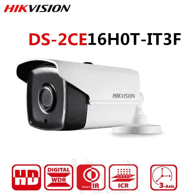 Hikvision 5MP TVI/AHD/CVI/CVBS 4 IN 1 Analog Bullet Camera DS-2CE16H0T-IT3F 5Megapixel High-Performance EXIR CCTV Camera System