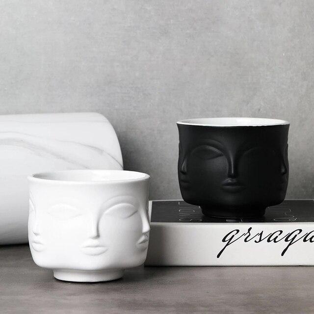 Фото скандинавское украшение керамический цветочный горшок для лица