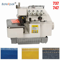 737/747/757 High speed overlock sewing machine,BateRpak 3/4/5line overedge sewing machine,without motor and support plate