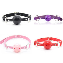 BDSM Mouth Gag Bondage Restraints Open Mouth Breathable Sex Ball Harness Strap Gag Sex Toy For Women Couple Accessories