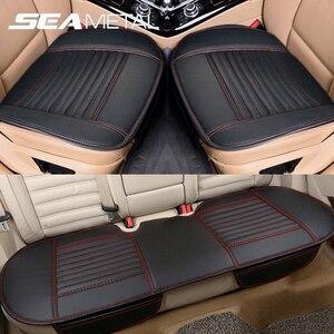 Image 1 - Autos Sitzbezüge Leder Sitz Abdeckung Kissen Universal Auto Seat Protector Kissen Sets Innen Stuhl Matten Pad Zubehör