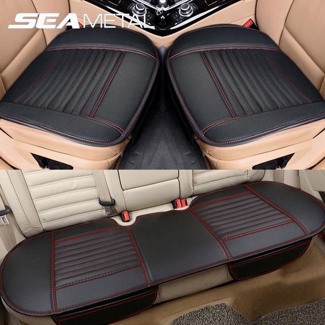 Autos Sitzbezüge Leder Sitz Abdeckung Kissen Universal Auto Seat Protector Kissen Sets Innen Stuhl Matten Pad Zubehör