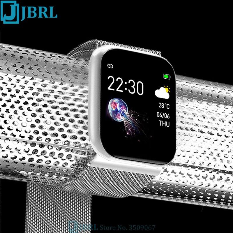 HD Full Touch Digital Watch Women Led Wrist Watches Men Analog Digital Watch Magnet Strap Fitness Bracelet Heart Rate Monitor