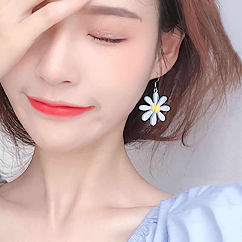 EK890 Neue Design Süße Daisy Blume Stud Ohrringe Nette Erklärung Ohrring Schmuck für Mädchen Geschenk für Frau Rot Rosa Farbe brincos