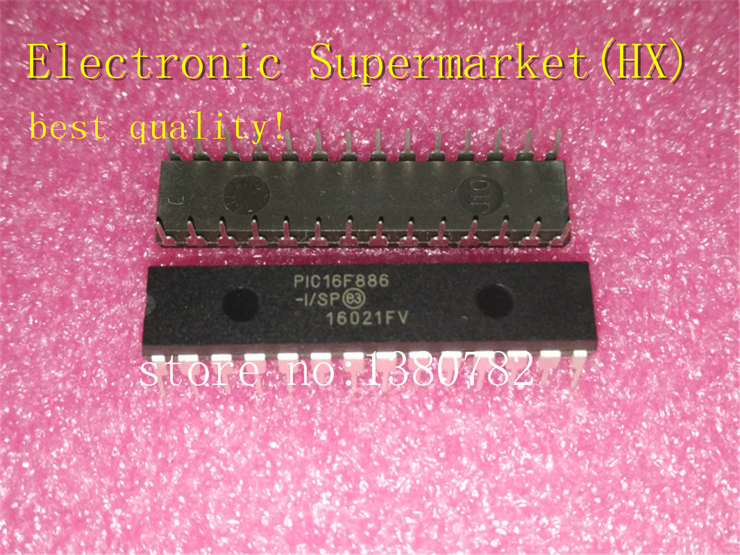 Free Shipping 50pcs/lots PIC16F886 I/SP  PIC16F886  16F886 I/SP  DIP 28  New original  IC In stock!-in Integrated Circuits from Electronic Components & Supplies