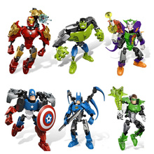 Marvel Super Heroes Hulk Infinity War Thanos Guardians Of Galaxy Spider Iron Man Thor Building Blocks Toys Figures Christmas