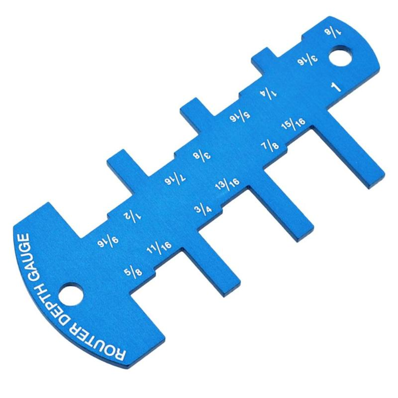Depth Gauge 1/8 To 2-1/4 Inch Aluminium Alloy Gauge For Table Saw Cutting Woodworking Metric Caliper Depth Gauge Accessories