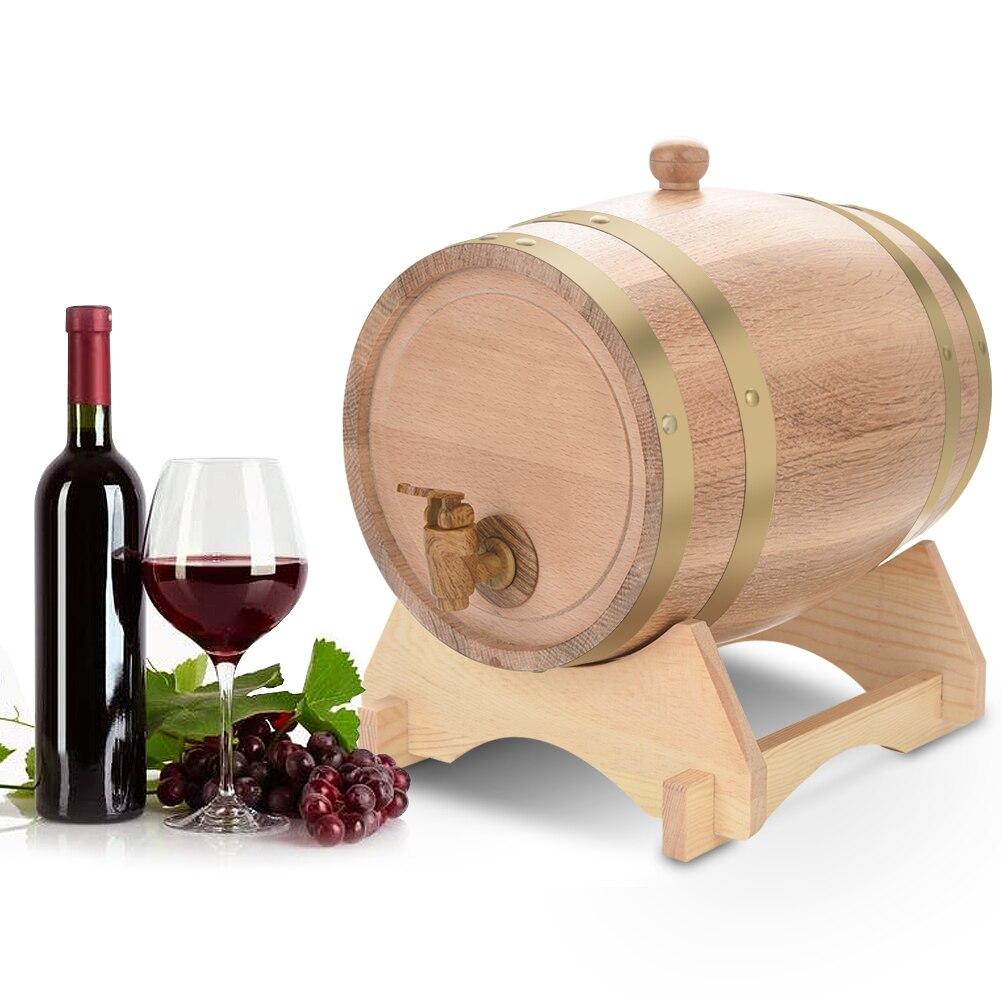 5L Keg Vintage Wood Oak Timber Wine Barrel for Beer Whiskey Rum Brewing storage oak Barrel High Quality