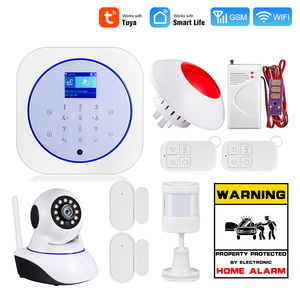 Towode Smart Home Security Alarm System WiFi GSM Wireless 433MHz Tuya APP Android IOS Control Touch keyboard Control