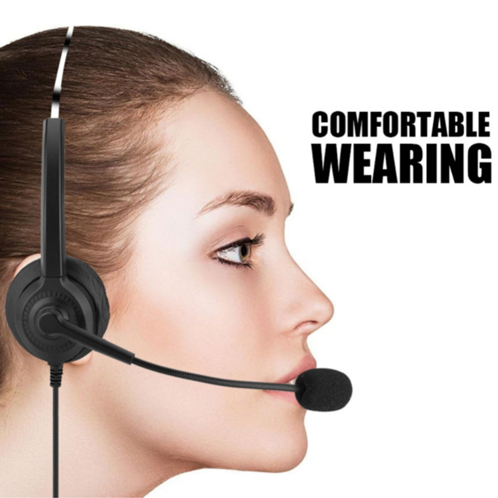 Usb Headset Lighhtweight Computer Headset With Microphone In Line Control For Call Center Skype Pc Voip Phone Microphones Aliexpress