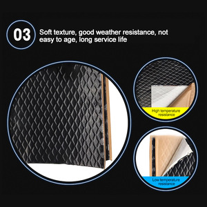 Interior Accessories Car Sound Insulation Shockproof Plate Environmentally Tasteless Pure Butyl Rubber Damping Plate Shock Pad