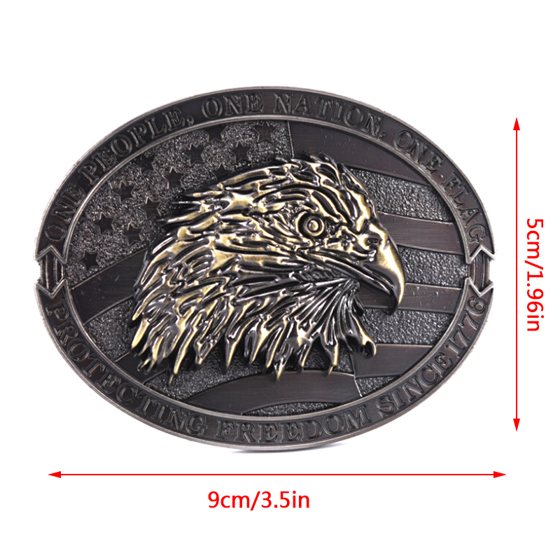 Eagle Metal Cool Belt Buckles For Man Unisex Western Fashion Buckle Cowboys Cowgirls Paracord Buckle Luxury