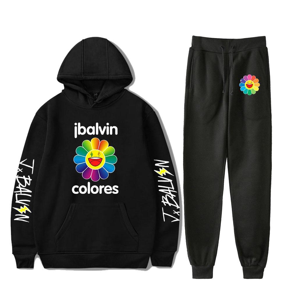 J BALVIN Tracksuit Two Piece Set Women/Men Long Sleeve Hoodies+Jogger Pant Casual Unisex Streetwear&Pants Fashion CLothing
