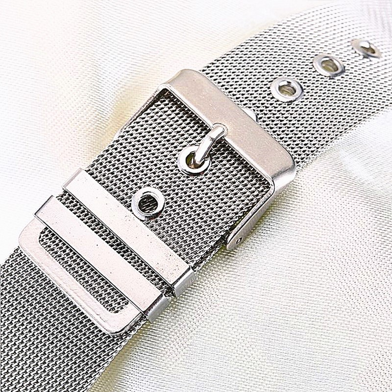 Bracelet Stainless Steel  Watchband 16 18 20 24mm Universal Stainless Steel Metal Watch Band Strap Bracelet Silver Free Shipping